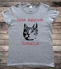 Cats Againts Catcalls Feminist Slogan T-Shirt