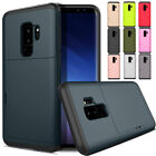 For Samsung Galaxy S9/S9 Plus Card Wallet Slot Hybrid Shockproof Hard Case Cover