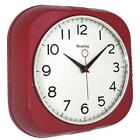 Vintage/Retro,Westclox 9.5 Square Retro Wall Clock,Red or Black, Silent No Tick