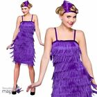 Womens Ladies 1920s 20s Gatsby Charleston Flapper Fancy Dress Outfit + Headband
