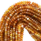 Faceted Carnelian Rondelle Beads Gemstone 15