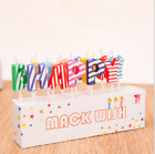 Colorful Cake Candeles Party Gold letter Happy Birthday Cake Candles I Love You