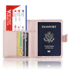Leather Passport Holder Wallet Cover Case RFID Blocking Travel Wallet Newest