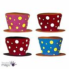 Maxi Clown Spotted Spotty Top Hat Mad Hatter Fancy Dress Costume Accessory Gift