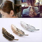 Fashion Women Leaf Feather Hair Clip Hairpin Barrette Bobby Pin Hair Decoration