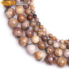 Natural Round Brown Venus Jasper Stone Semi Precious Beads Jewelry Making 15''