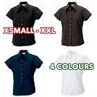3 5 10 Pack Womens Ladies cap sleeve Tencel® fitted shirt formal casual lot