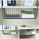 Wrap Organizer Holder Shelf Basket Wire Pantry Rack Storage White Kitchen Under