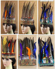 Indian Tribal Chief Feather Headband Headdress Party Show Headpeice Hair Band
