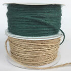Christmas Natural Hessian string, 2 colours, 2mm wide sold per 2 metres