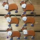 7cm Wooden Hanging Heart Highland Cow Coo Scottish Hanger Quote Sign Plaque