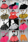Kids Animal Tutu Fancy Dress Costume Ears Headband Bow Tail Party Accessories