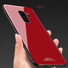 For Samsung Galaxy S9 Plus Shockproof Slim Mirror Back Tempered Glass Case Cover