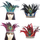 Vintage Feather Headband Peacock Headdress Carnival Party Headpiece Hair Band