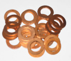 COPPER SEALING WASHER  6 8 10 12 14 16 18 20 22 mm  Diameters PACK SIZES 2 5 10