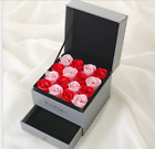 New Romatic bouquet Soap Rose Necklace Jewelry Box