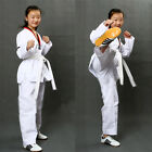 Classic Adult Child Judo Karate Uniform Cloth Martial Art Taekwondo White Belt