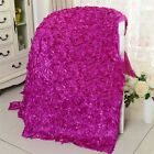 1/11Yards 3D Rose Flowers Satin Fabric Wedding Party Carpet Aisle Runner Decor