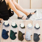 Women Thin Lace Crystal Glass Silk Low Cut Socks Invisible Short No Show Socks
