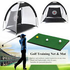 3in1 Golf Practice Net Cage Driving Hit Training Mat Aid Driver Irons + Free Bag