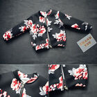 Baby Girl Boys Floral Fall Hooded Coat Kids Toddler Outerwear Jacket Clothing
