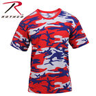 Rothco 3192 Colored Camo T-Shirts - Red / White / Blue