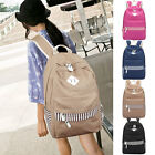Cute Dots Women Men Canvas School Rucksack Travel Sport Bag Laptop Backpack