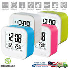 NEW Electric Alarm Clock Digital LED Display With Snooze Rechargable Battery