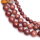 Natural Round Dark Red African Blood Jasper Stone DIy Beads Jewelry Making 15""