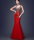 Women Maxi Lace Evening Formal Party Cocktail Wedding Gown Bridesmaid Dress X03