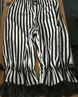 Black and white striped long legged bloomers