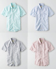 AE American Eagle Online Linen Cotton Short Sleeve Shirts Turq Blue Navy Red NWT