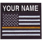 THIN YELLOW LINE USA CUSTOM BADGE EMBROIDERED PATCH