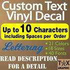 Custom Decal Vinyl Lettering Personalized Sticker Window Name Sign Outdoor Vinyl
