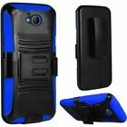 For ZTE Majesty Pro LTE Z799VL Rugged Stand Belt Clip Holster Case Phone Cover