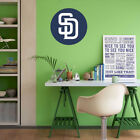 San Diego Padres MLB Team Logo Color Printed Decal Sticker Car Window Wall on Ebay