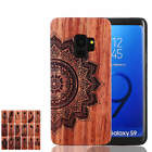 natural patterns - For Samsung Galaxy S9 Plus S9 Natural Hand Made Carving Pattern Wood Wooden Case