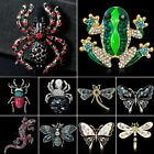 Spider Lizard Frog Dragonfly Butterfly Shell Rhinestone Brooch Pin Jewelry New