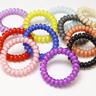 3PCS Women Girl Jelly Candy Color Telephone Line Hair Ring Hair Accessories Rope
