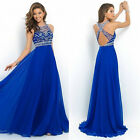 US Women Lace Long Formal Wedding Evening Ball Gown Party Prom Bridesmaid Dress фото