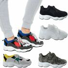 Womens Ladies Retro Platform Lace Up Chunky Trainers Sneakers Pumps Shoes Size