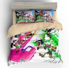 Splatoon Pattern Kid Bedding Set Duvet Cover Pillowcase Comforter Cover US/UK/AU