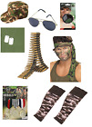 Army Military Soldier War Unisex Fancy Dress Stag Hen Costume Accessories Lot