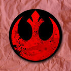 Rebel Alliance Symbol Star Wars Sticker Episode VII Luke Skywalker Han Solo $5.75 USD