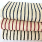 CANVAS Ticking Stripe100% cotton  fabric  112cm wide sold per 1/2 metre