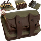 Leather Ammo Pouch Rifle Shotgun Cartridge Shell Holder Case Belt Bag 12 Ga .303