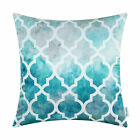 Throw Pillow Cushion Cushion Covers Poly Satin Soft Geometric Gradient 18x18