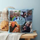"Father's Day Personalised G is For Grandad Design 18"" Cushion 4 Colours Gift"