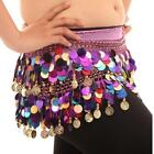 Belly Dance Hip Scarf Skirt Wrap Costume Sequin Tassel Belt&Copper Coins Lots US