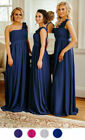 1 Shoulder Chiffon Bridesmaid Dress Long Formal Ballgown Prom Maxi Dress Daisy